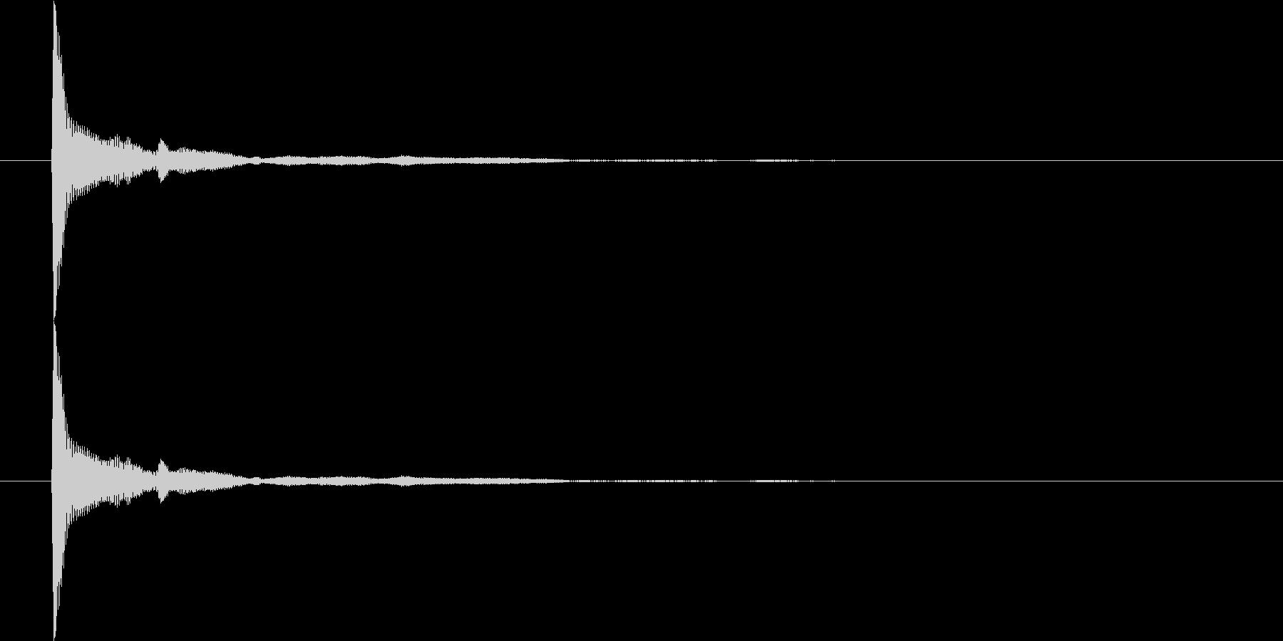 コッ/選択音/固め/クール/かっこいいの未再生の波形