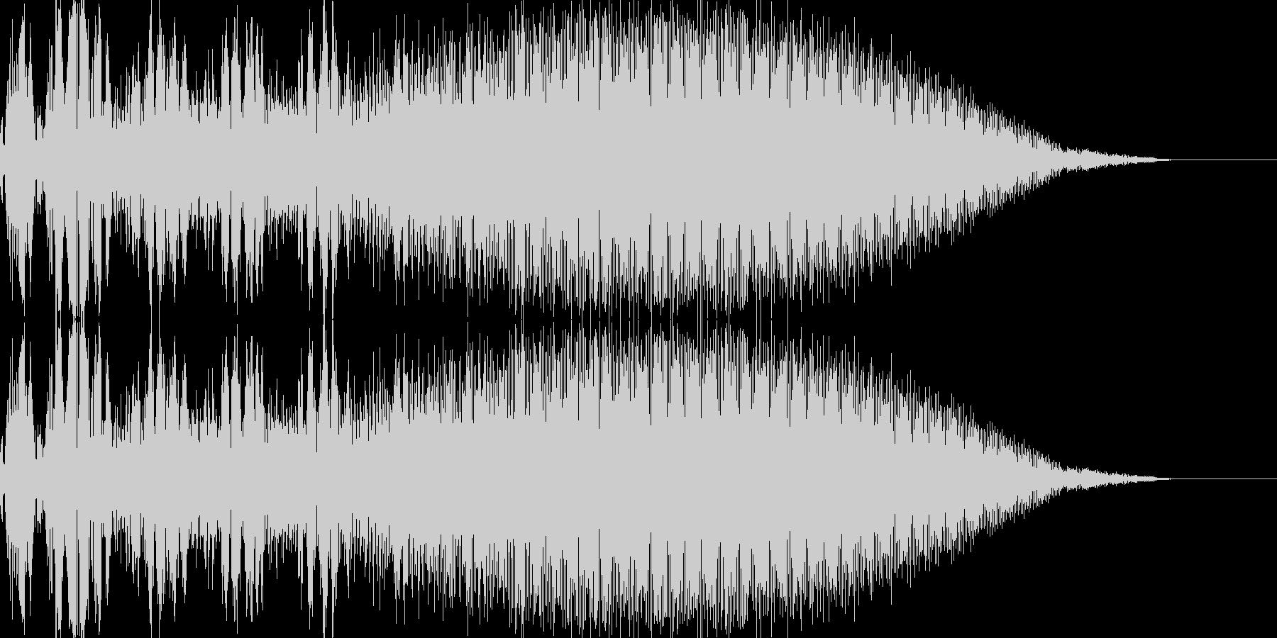 アナログドラム風「選択」「決定」音の未再生の波形