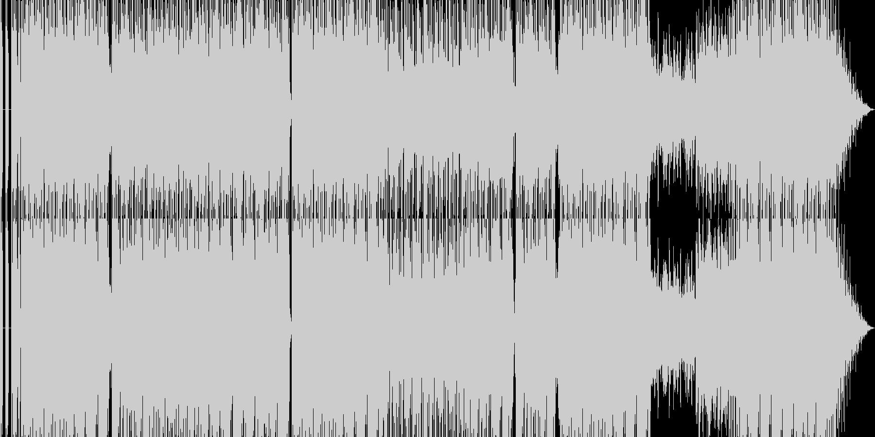 シンセサウンド満載テクノの未再生の波形