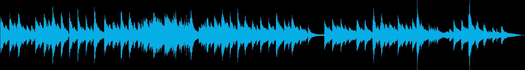 生演奏 落ち着いたピアノBGMの再生済みの波形