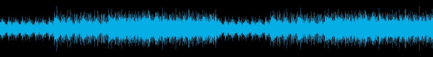 シリアスでミステリー感のある曲の再生済みの波形