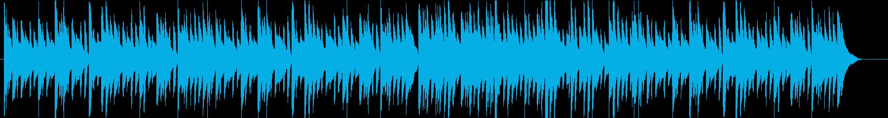 ピアノのみのクラシカルなワルツの再生済みの波形
