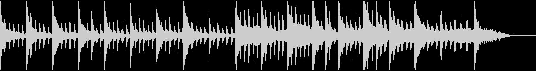 雨音をイメージしたピアノの未再生の波形