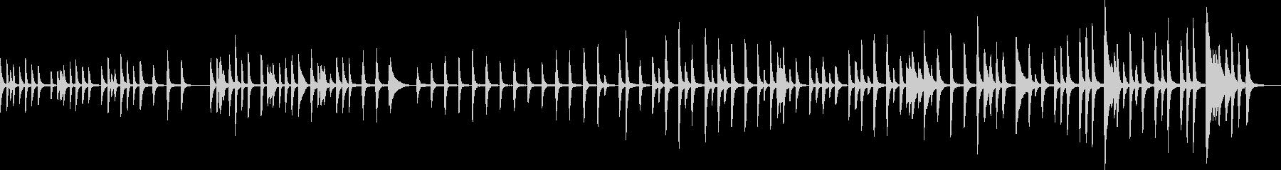 ほのぼのした可愛いピアノ曲の未再生の波形