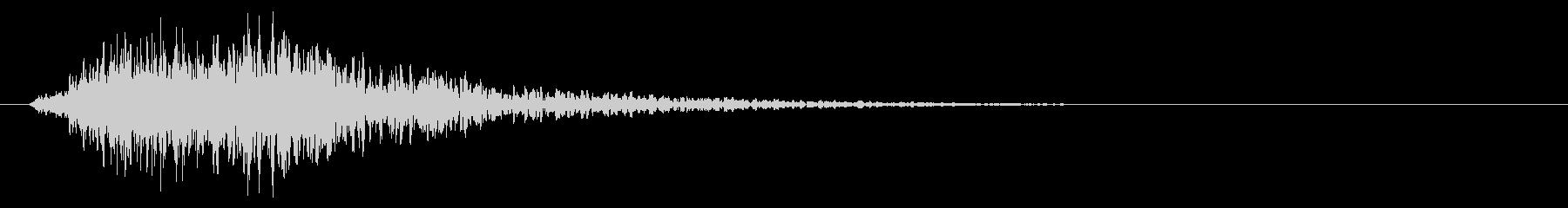 深遠中爆発の衝撃-トリプルヒットの未再生の波形