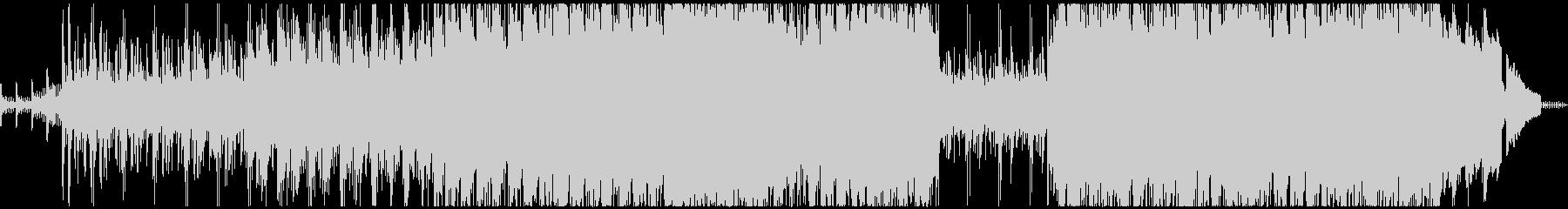 時計仕掛けの風変わりなパンクロックの未再生の波形