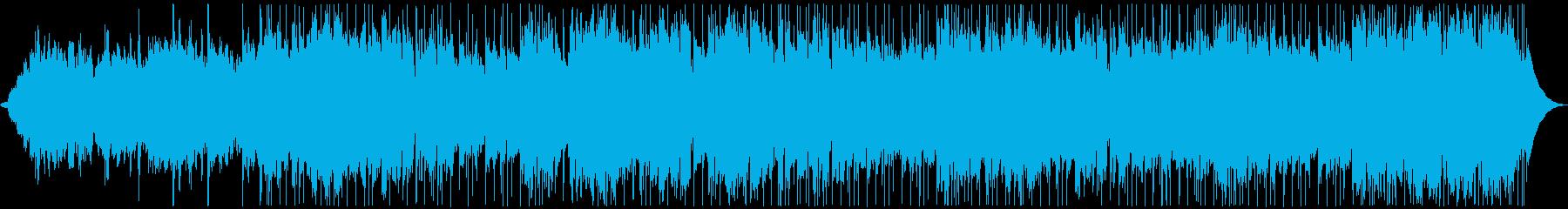 テクノ感のあるホラーテイストなBGMの再生済みの波形