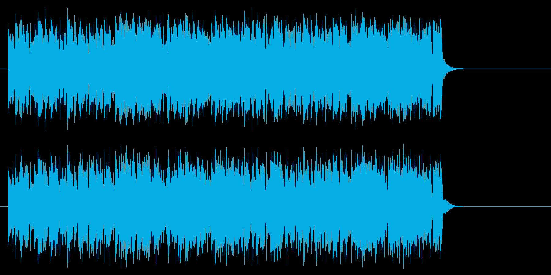 明るいオープニングポップ(サビ~エンド)の再生済みの波形
