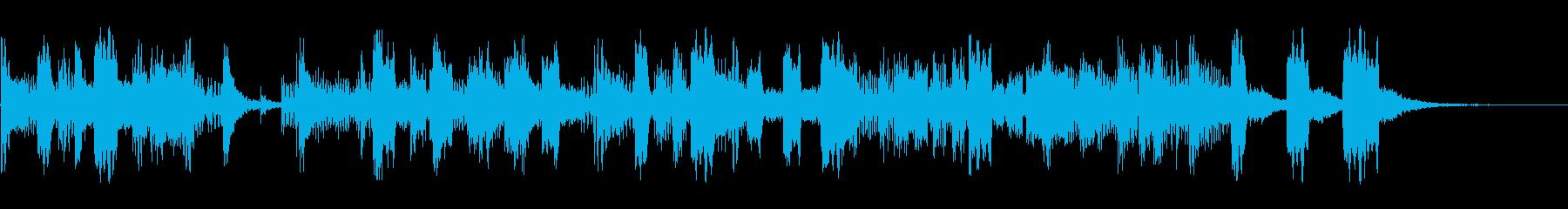 明るいジングル・場面転換・オープニングの再生済みの波形