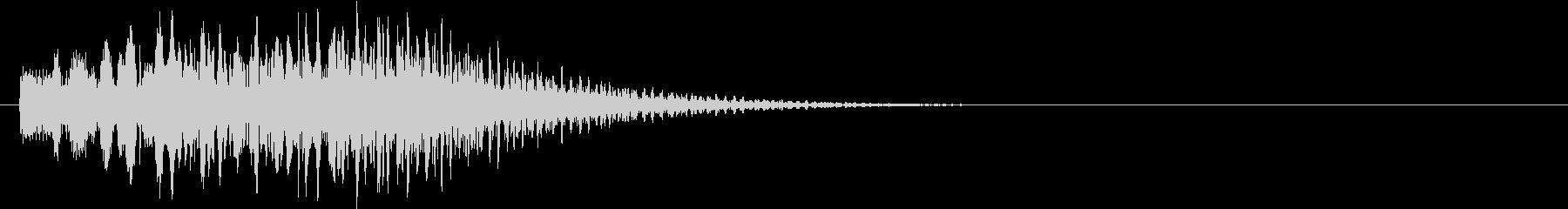 キラララララン(キラキラ系装飾音)の未再生の波形