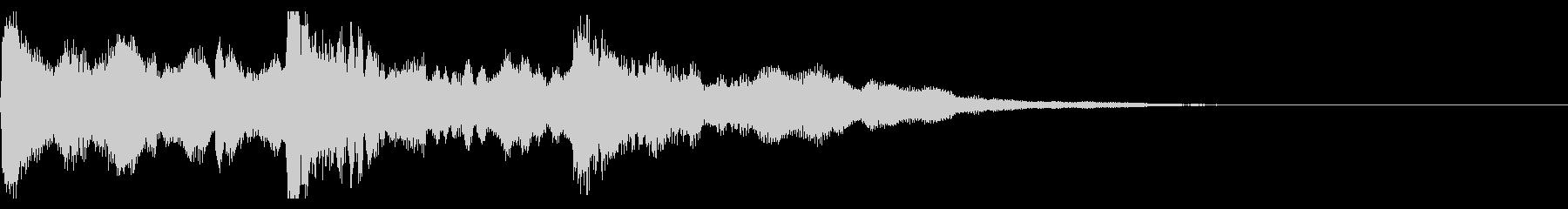 ゲームオーバー ピアノ  ジングルの未再生の波形