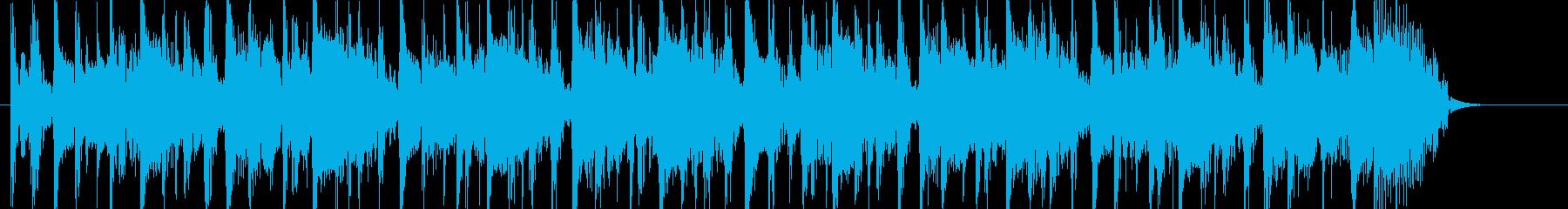 20秒ファンキー明るいノリのいいグルーヴの再生済みの波形