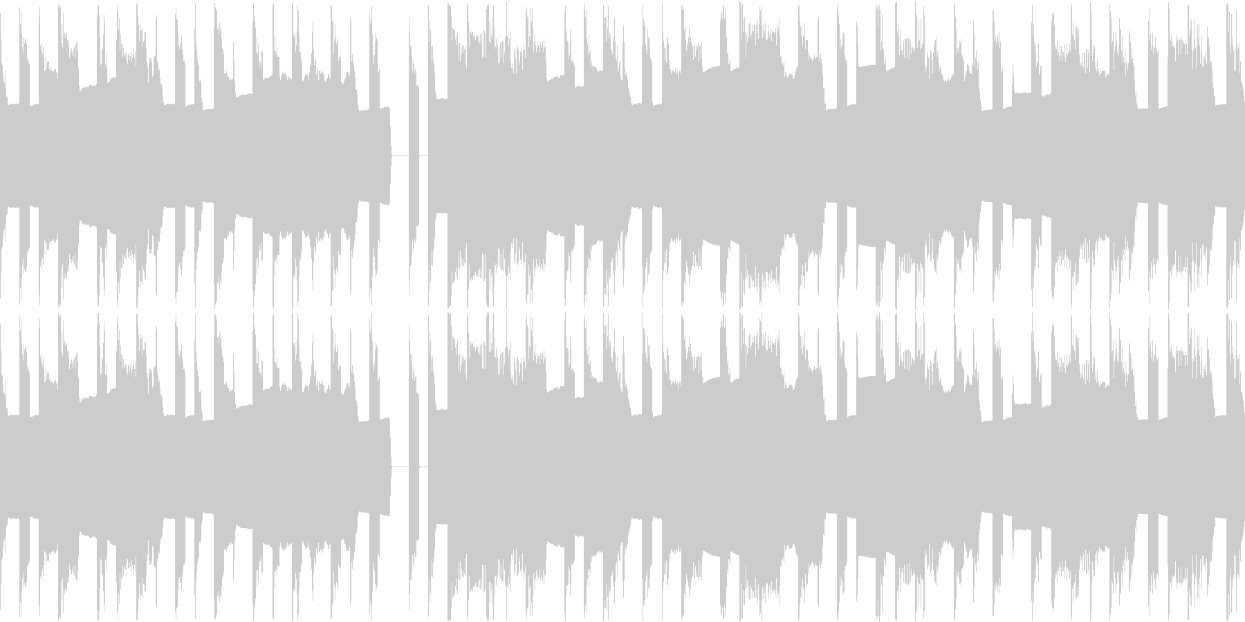 8Bitレトロゲーのんびりスカ風インストの未再生の波形