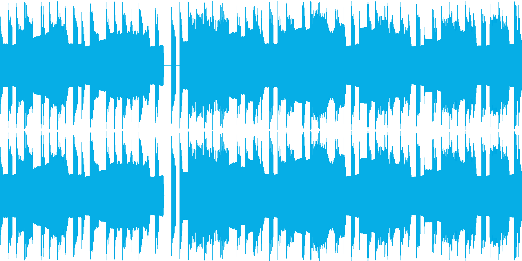 8Bitレトロゲーのんびりスカ風インストの再生済みの波形