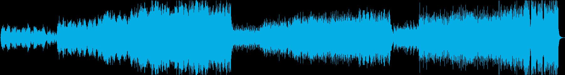徐々に激しくなるケルト風生バイオリン楽曲の再生済みの波形