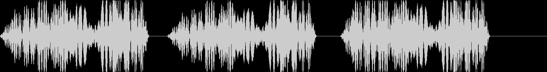 DJプレイ スクラッチ・ノイズ 256の未再生の波形