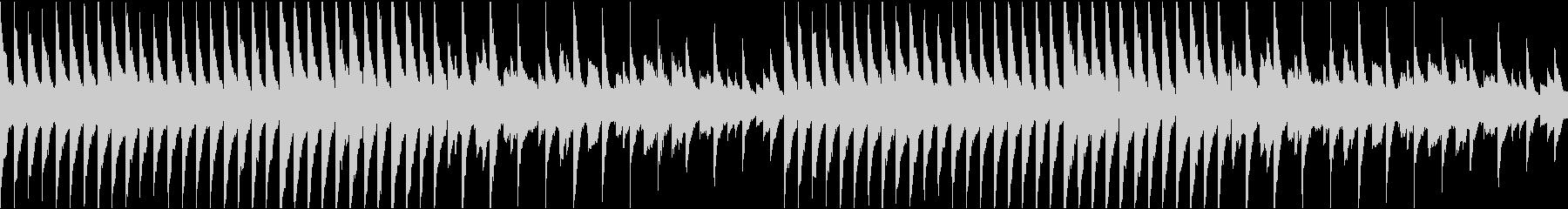 怖い雰囲気のピアノの未再生の波形