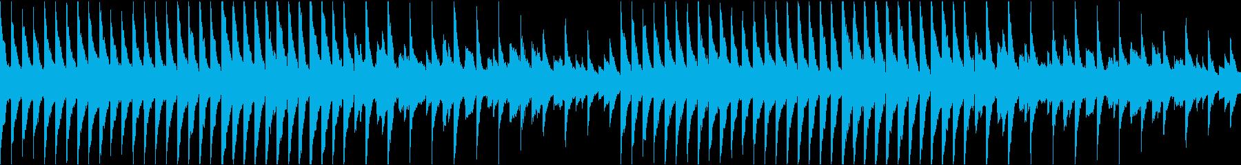 怖い雰囲気のピアノの再生済みの波形