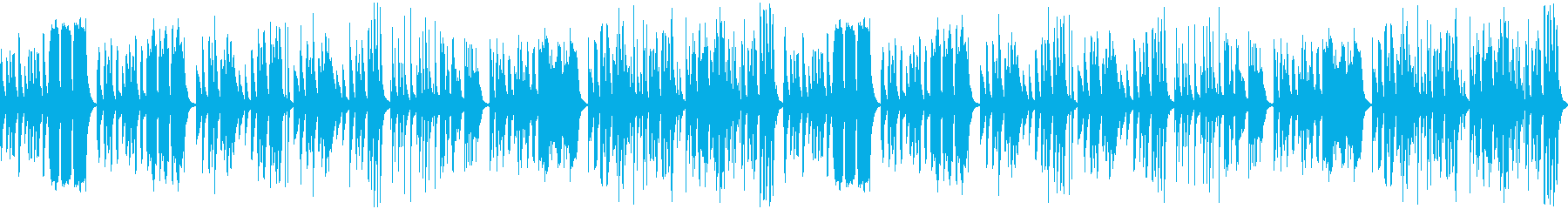 【YouTube】コミカルでかわいい曲の再生済みの波形