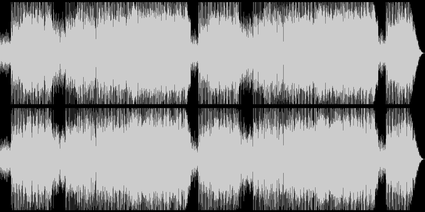 シャッフルのリズムが軽快さを感じさせる曲の未再生の波形