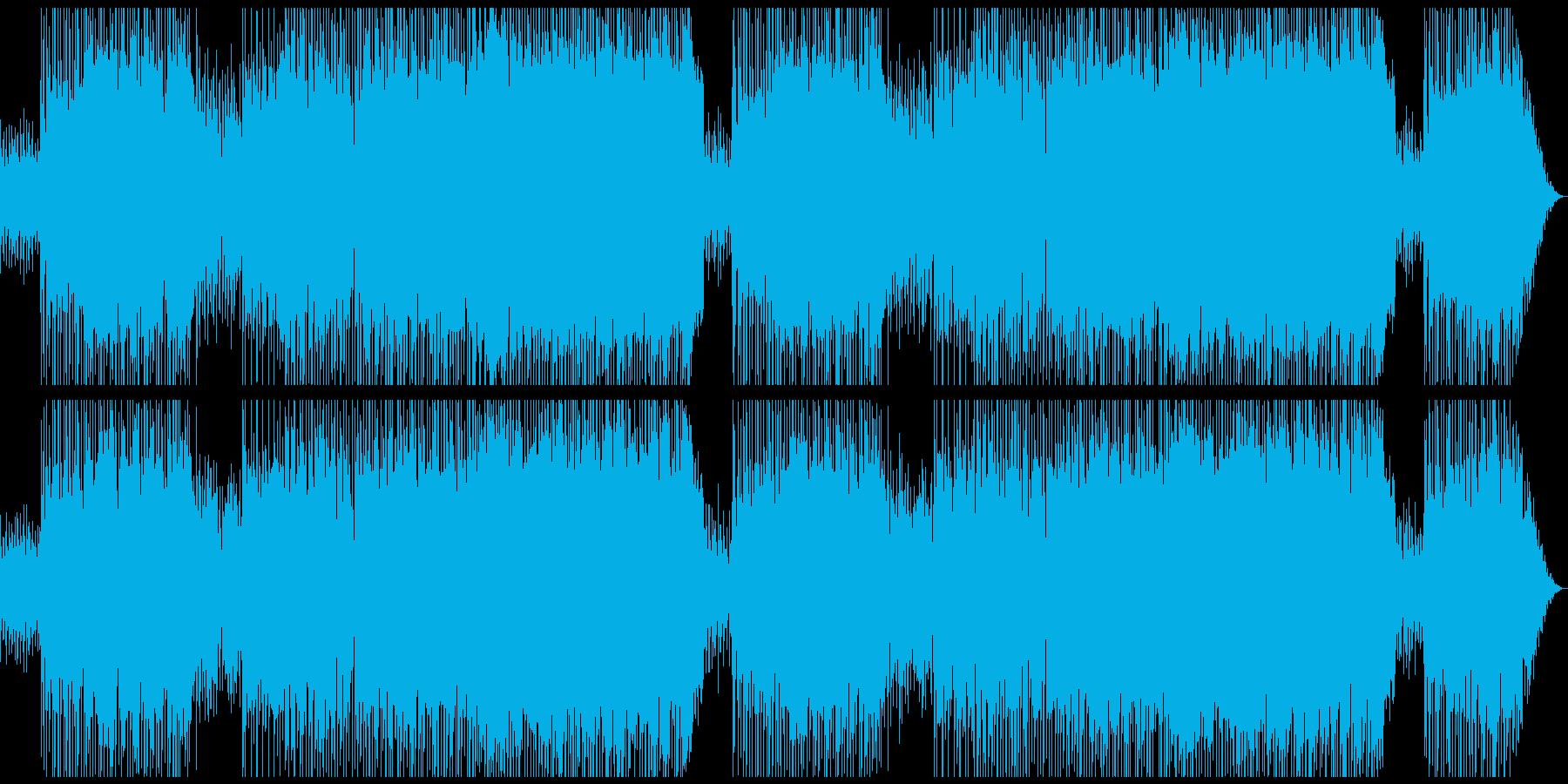 シャッフルのリズムが軽快さを感じさせる曲の再生済みの波形