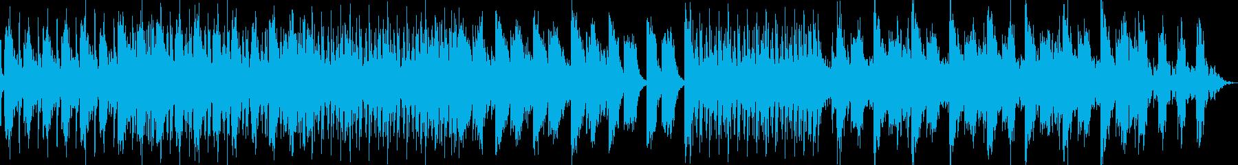 女性ボーカルとヴォコーダーのハウスの再生済みの波形