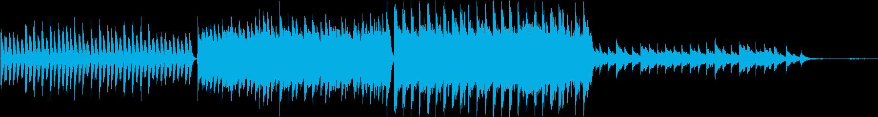 企業ムービー向けのシンプルなピアノの再生済みの波形