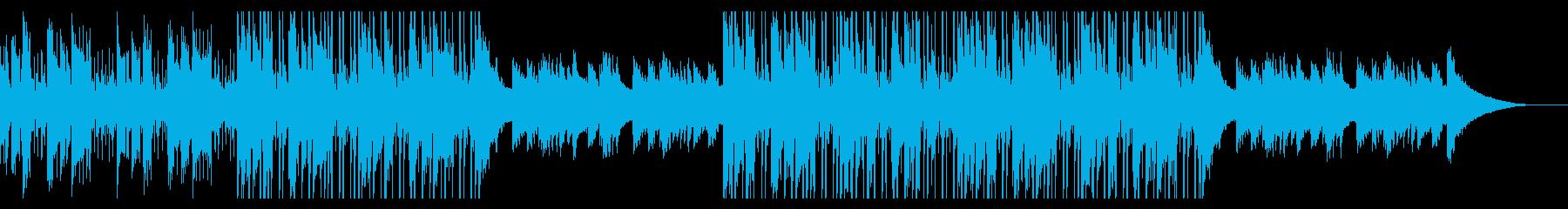 カフェの明るいジャズピアノ【キー +1】の再生済みの波形