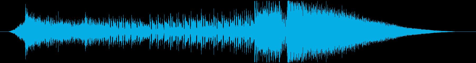 デジタルロック調のサウンドロゴの再生済みの波形