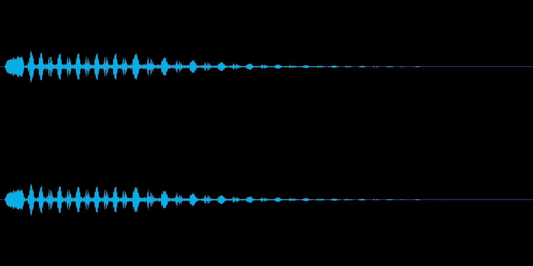 鳥のさえずりの再生済みの波形