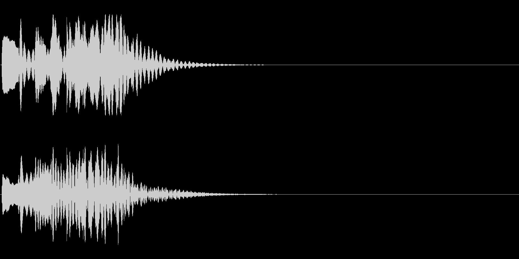 シーン切替 場面転換 木琴 下降タラランの未再生の波形