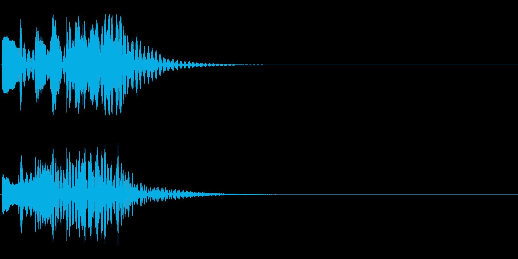 シーン切替 場面転換 木琴 下降タラランの再生済みの波形