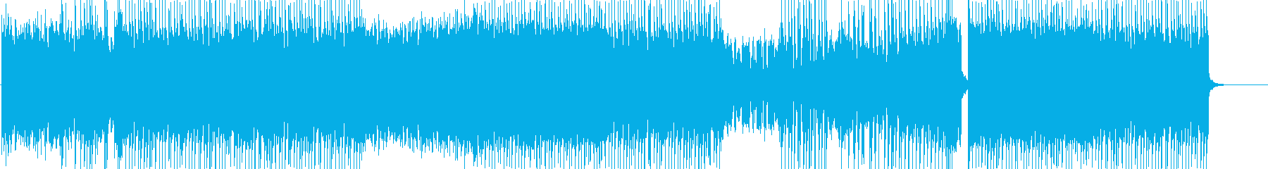 明るくて可愛い、ポップな曲の再生済みの波形