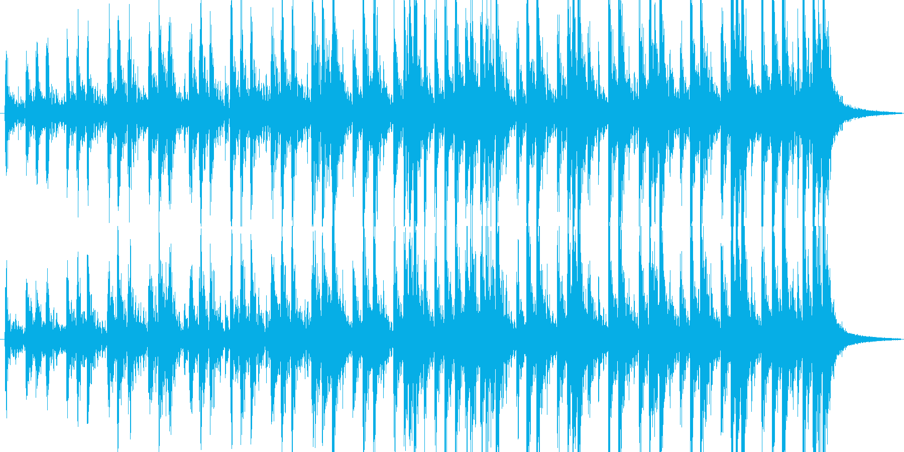 力強いパーカッションの再生済みの波形