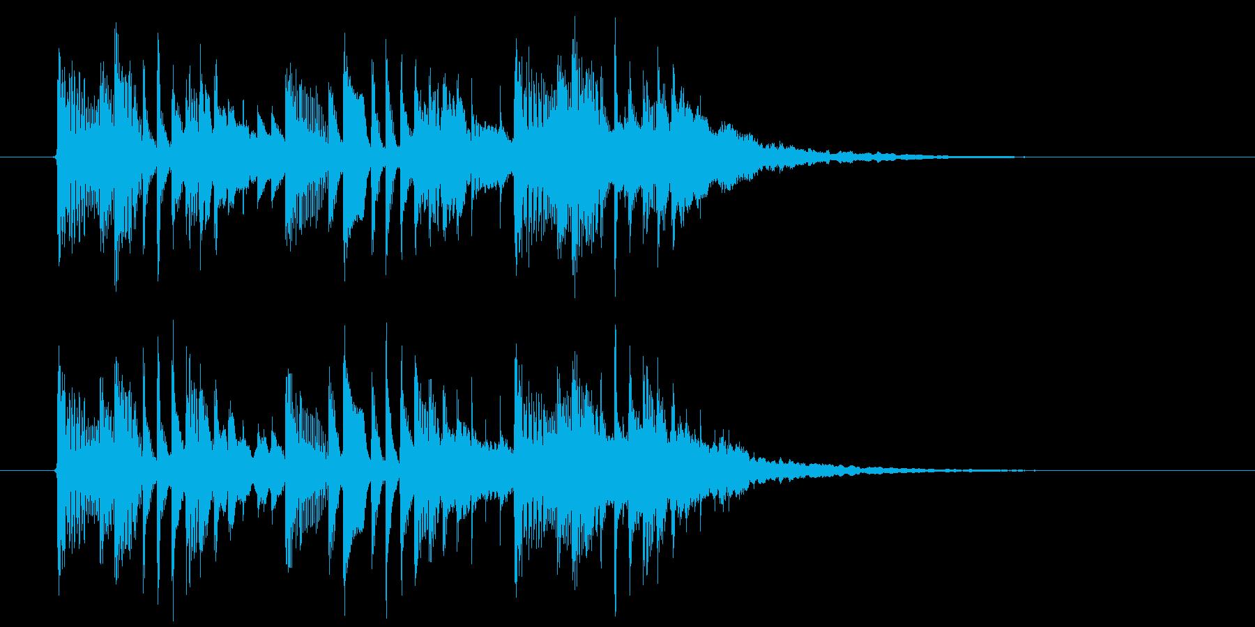 新しいことが始まる予感がする曲の再生済みの波形