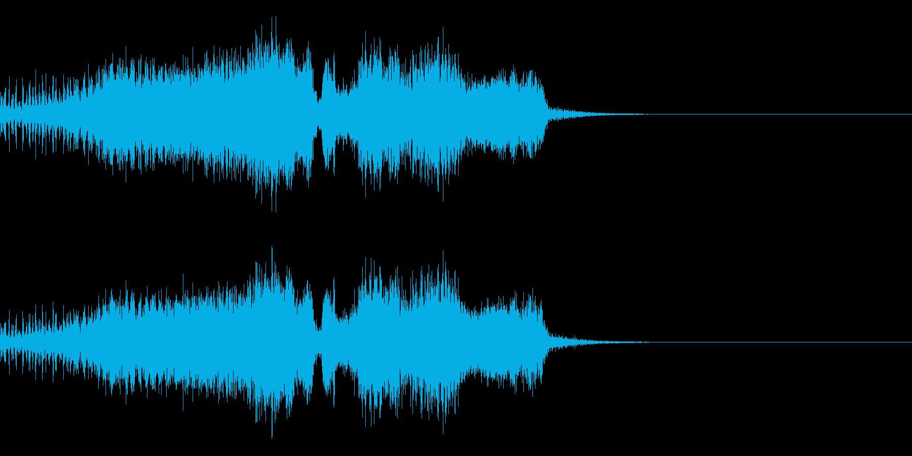 スパーク音-23の再生済みの波形