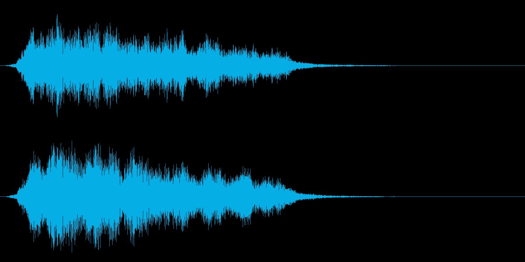 神秘的な不気味なエアリーロゴの再生済みの波形
