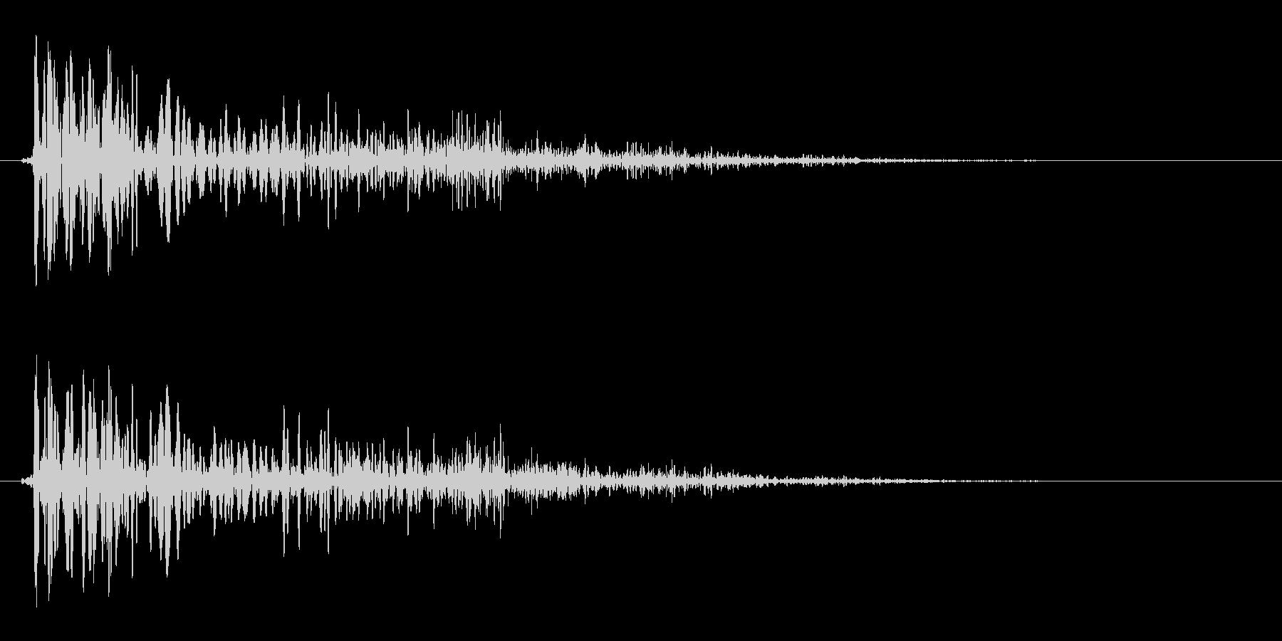 プヨン(生き物の足音)の未再生の波形