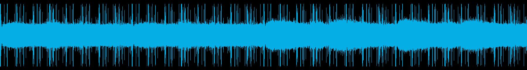 緊迫感のあるクールなテクノの再生済みの波形
