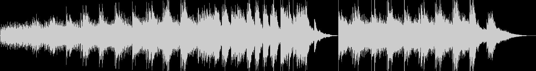 ネイチャー系の動画に優しいピアノ曲の未再生の波形