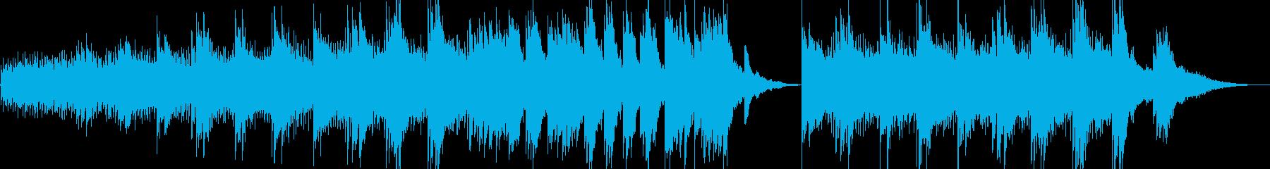 ネイチャー系の動画に優しいピアノ曲の再生済みの波形