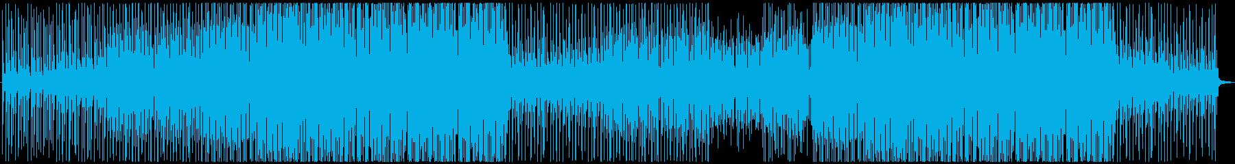 ギターとマリンバの爽やかで明るい楽曲の再生済みの波形