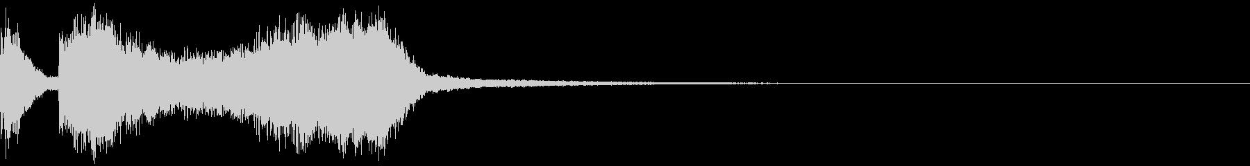 テッテレー5/上がっていく音 スッキリの未再生の波形
