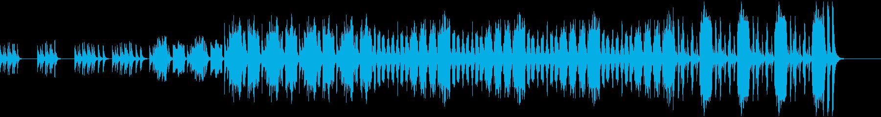 ほのぼの可愛らしいお散歩的な曲の再生済みの波形