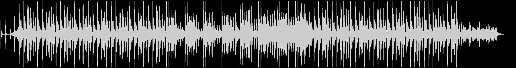 クリスマスをイメージしデジタル調BGMの未再生の波形