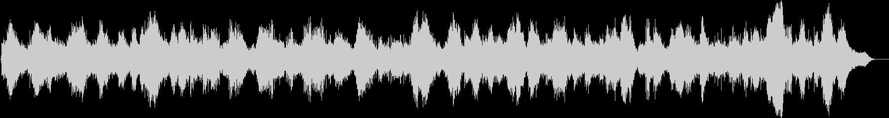 静かなピアノとキラキラしたシンセサイザーの未再生の波形