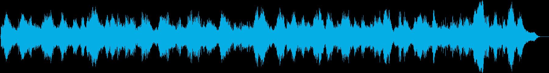 静かなピアノとキラキラしたシンセサイザーの再生済みの波形