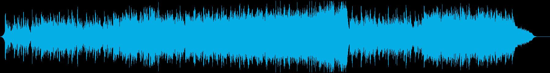 復興をイメージした前向きで広がりのある曲の再生済みの波形