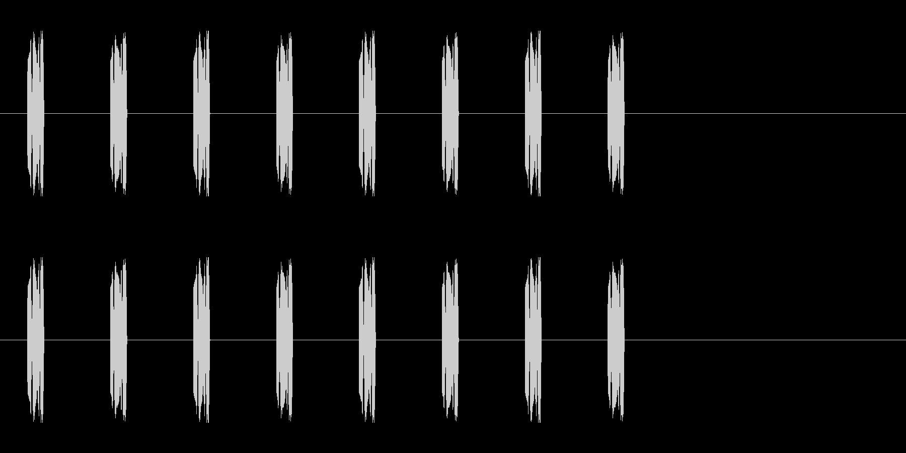 コミカルな足音 A-6-3の未再生の波形