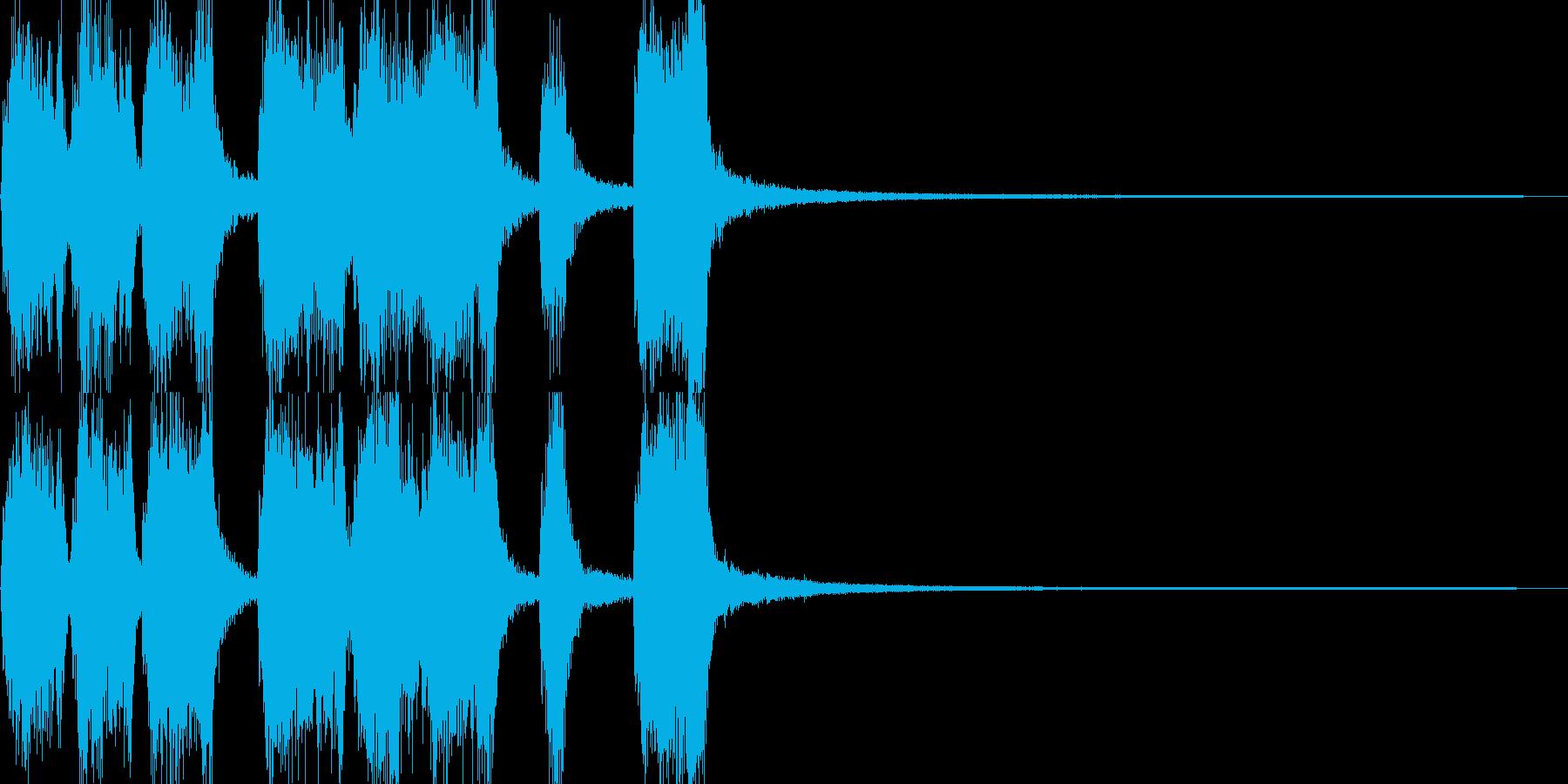 花畑広がるアコーディオンのジングルの再生済みの波形